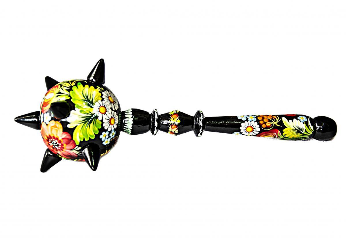 Булава с цветочной росписью