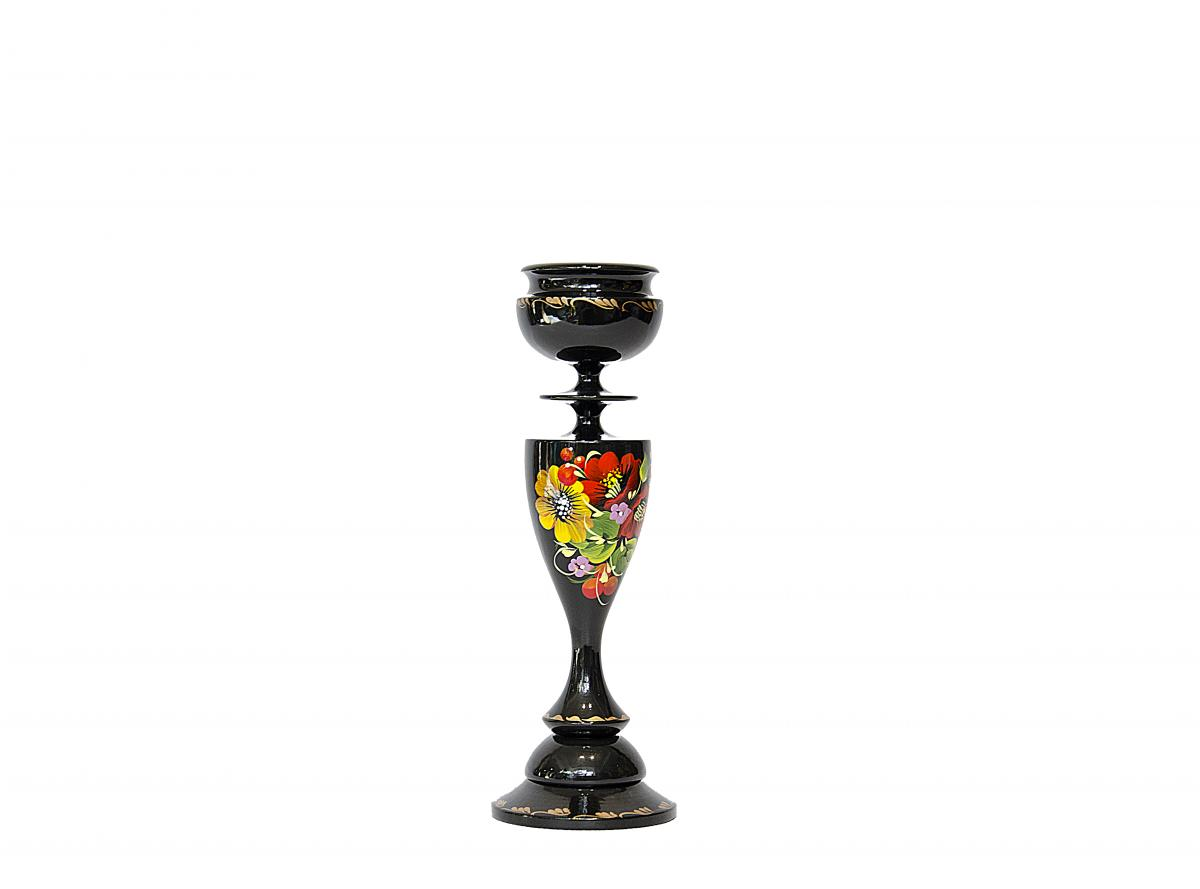 The long candlestick with a Petrykivskiy painting