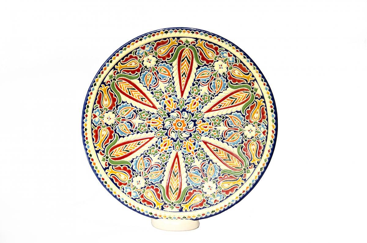 A plate of author's ceramic handmade. Photo №2. | Narodnyi dim Ukraine