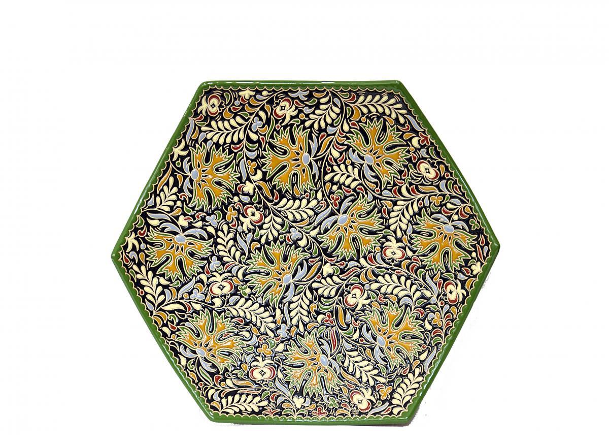 Тарілка з візерунком з авторської кераміки ручної роботи