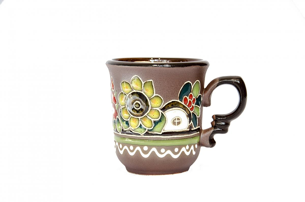A cup of Ukrainian ceramics in ethnic style. Photo №1. | Narodnyi dim Ukraine