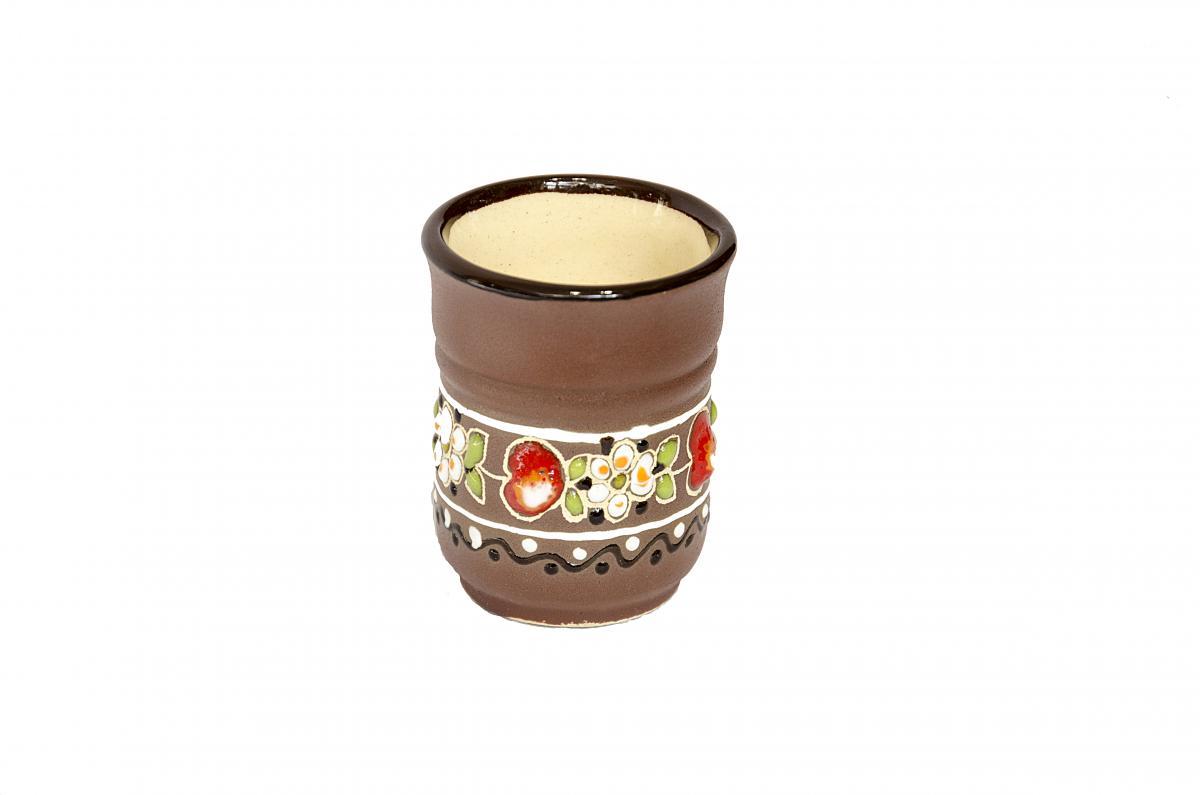 A glass of Ukrainian ceramics in ethnic style. Photo №1. | Narodnyi dim Ukraine