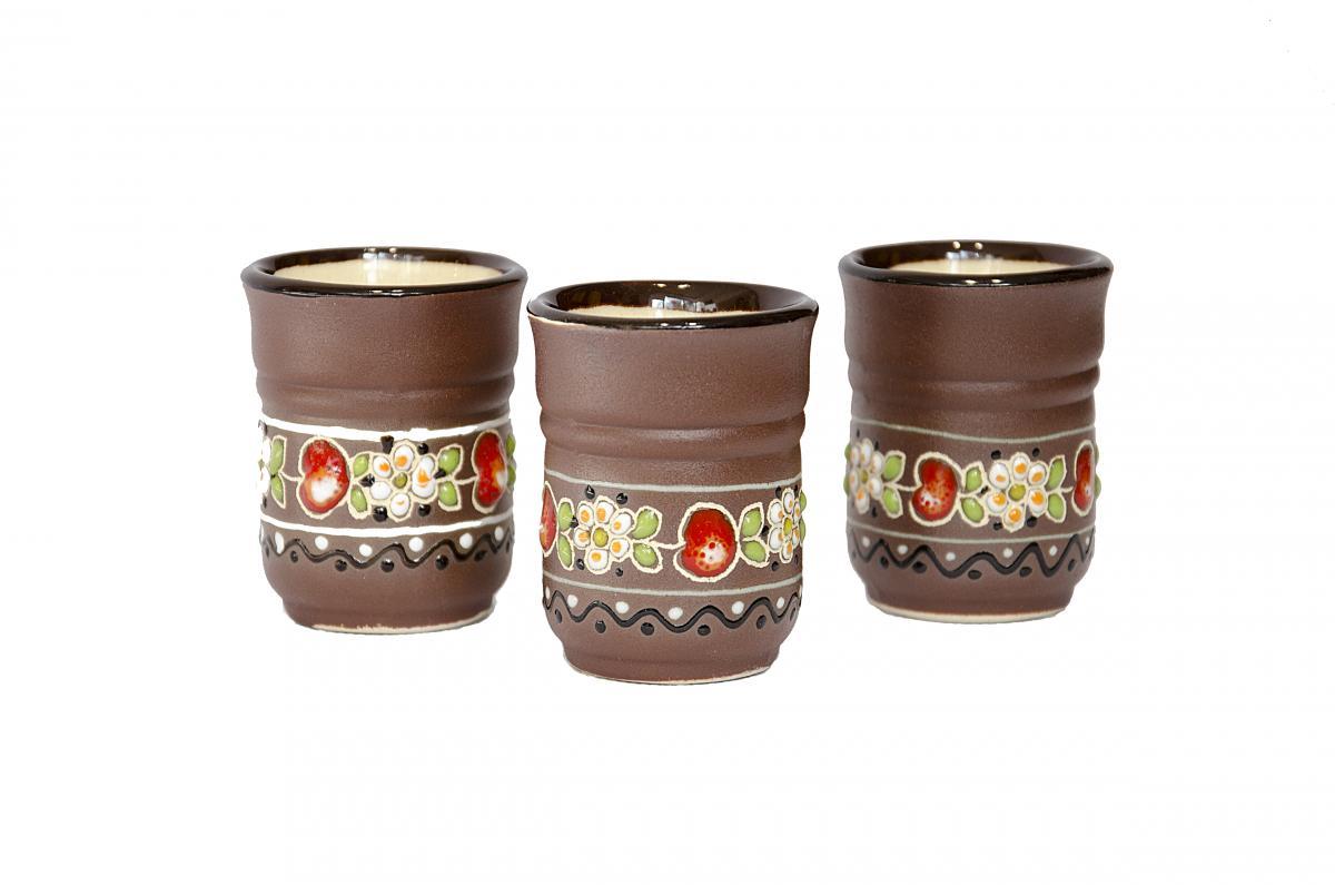 A glass of Ukrainian ceramics in ethnic style. Photo №2. | Narodnyi dim Ukraine