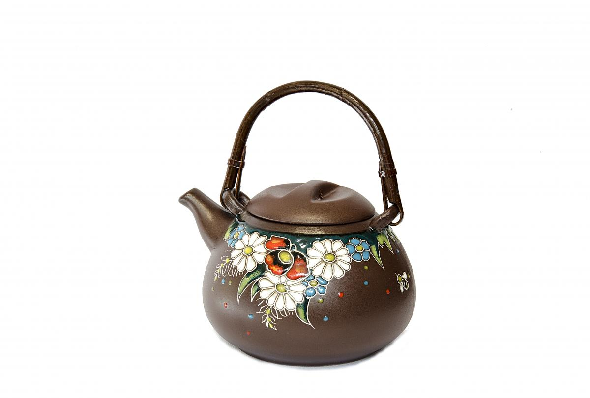 Kettle with a brewery in ethnic style. Photo №1. | Narodnyi dim Ukraine