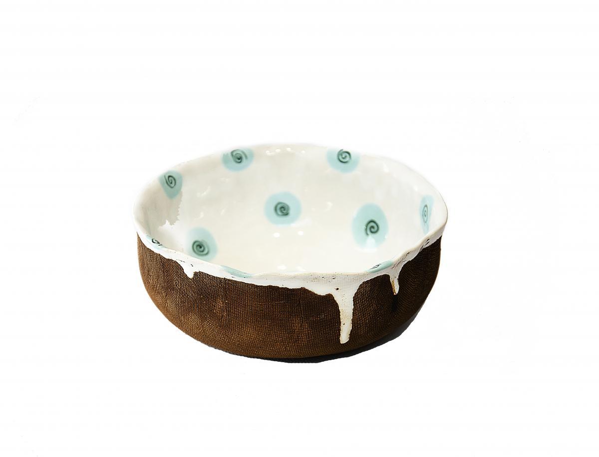 Тарелка с голубыми пятнышками. Фото №1. | Народный дом Украина