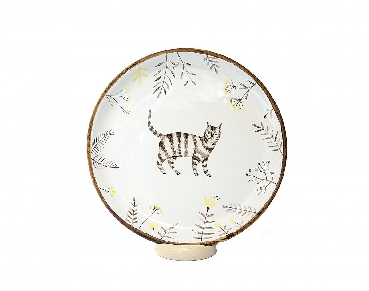 Тарелка с котом