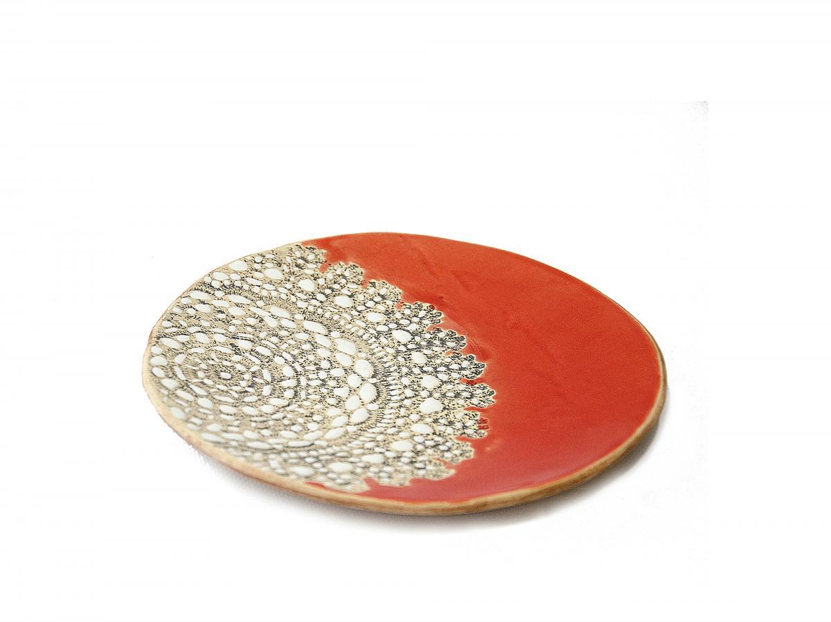 Тарелка оранжевая