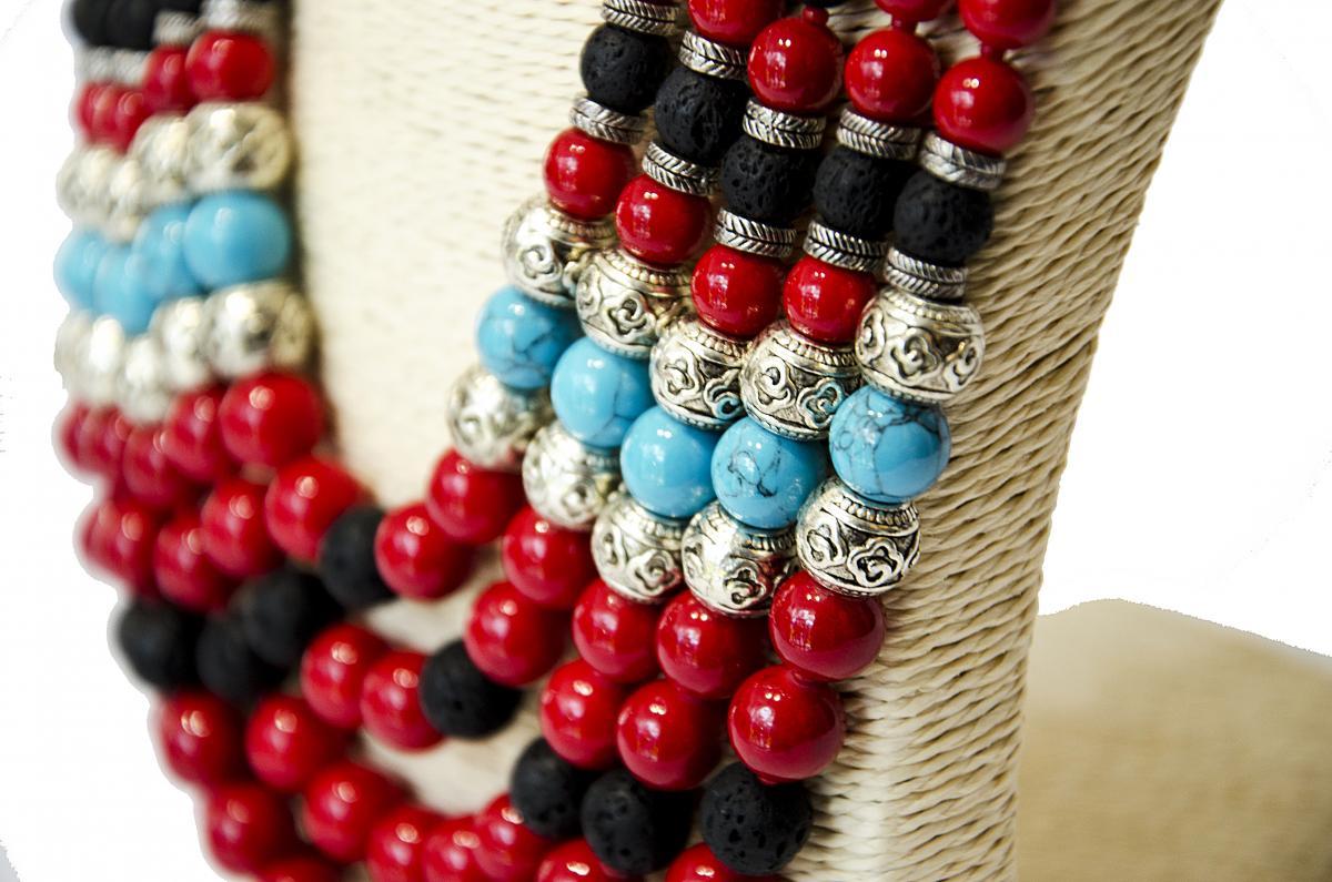 Ожерелье из натурального камня. Фото №3. | Народный дом Украина