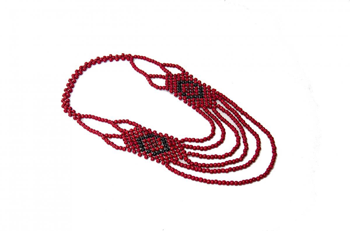 Ожерелье черно-красное. Фото №1.   Народный дом Украина
