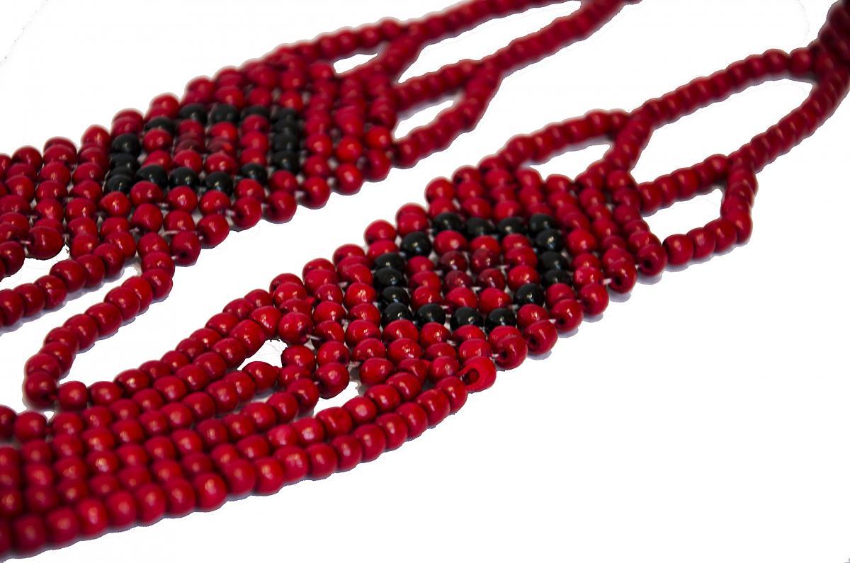 Ожерелье черно-красное. Фото №2.   Народный дом Украина