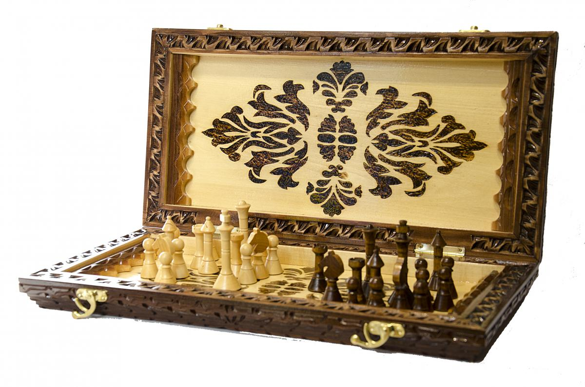 Деревянные шахматы ручной работы. Фото №3. | Народный дом Украина