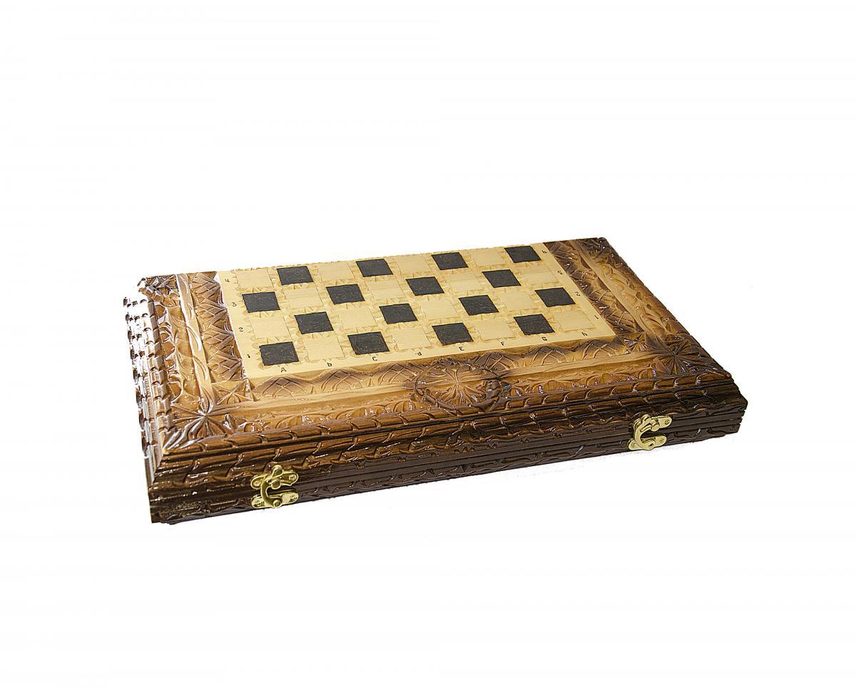 Деревянные шахматы ручной работы. Фото №5. | Народный дом Украина