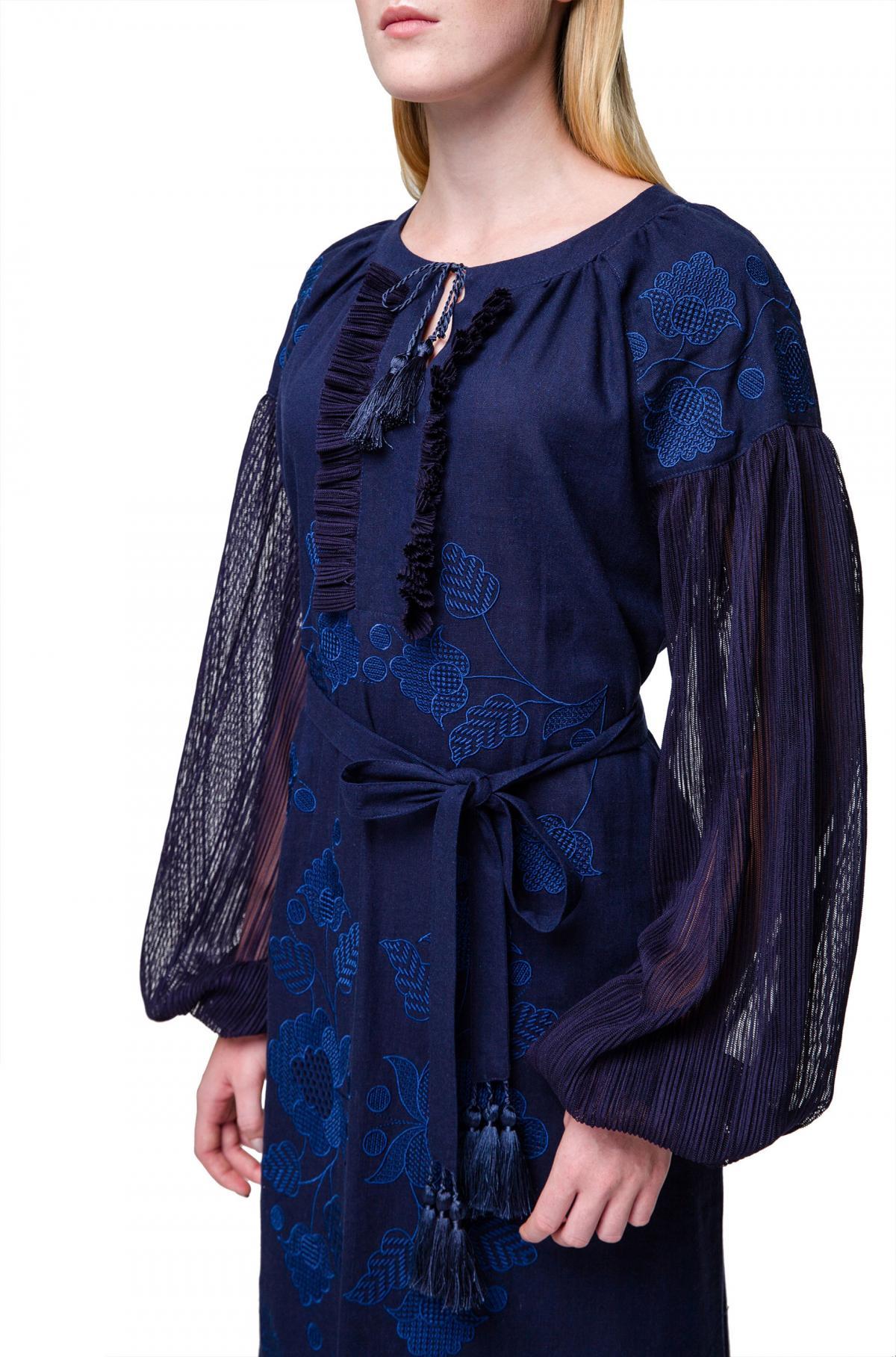 Dark blue embroidered dress. Photo №2. | Narodnyi dim Ukraine