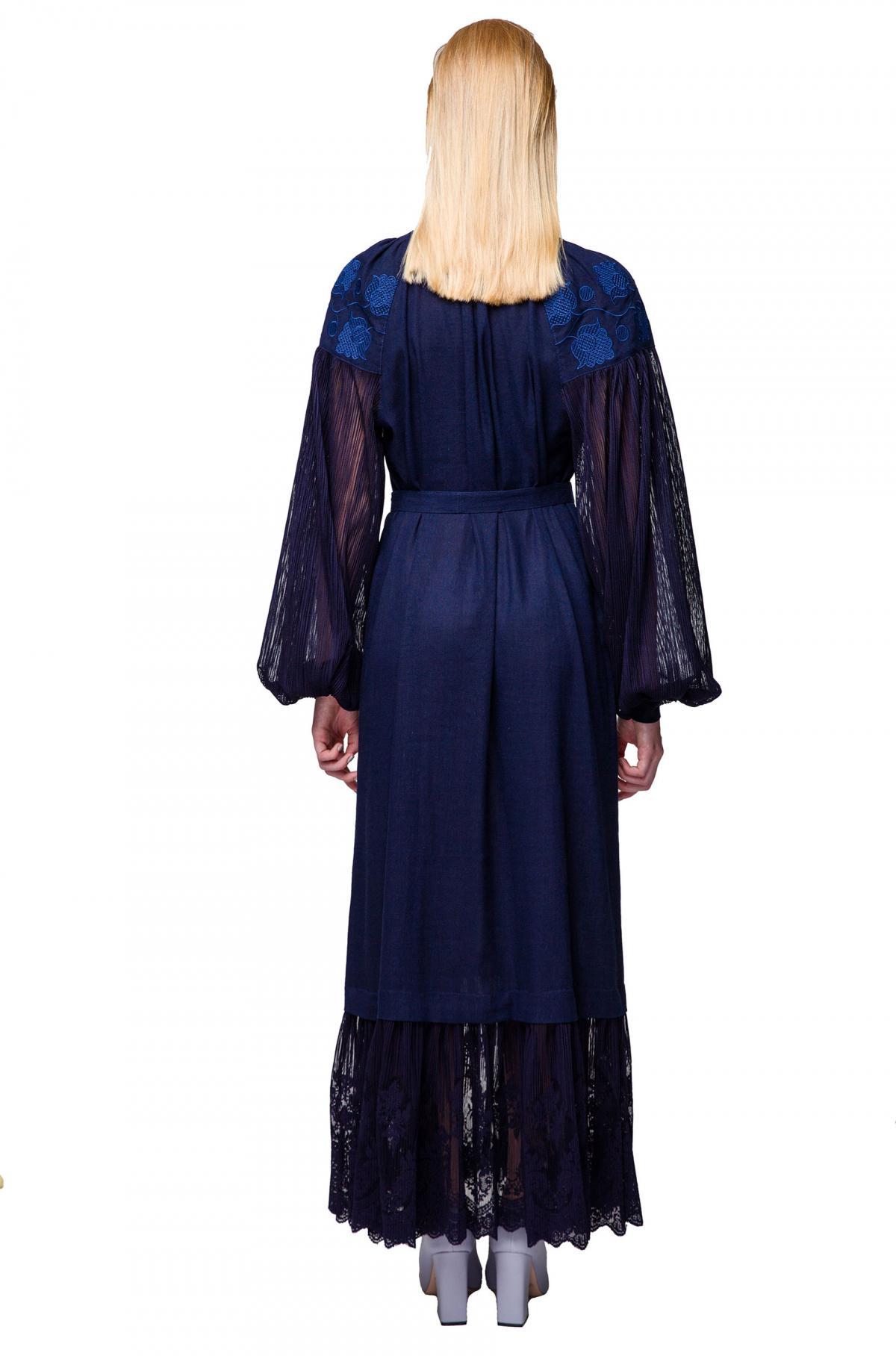 Dark blue embroidered dress. Photo №3. | Narodnyi dim Ukraine