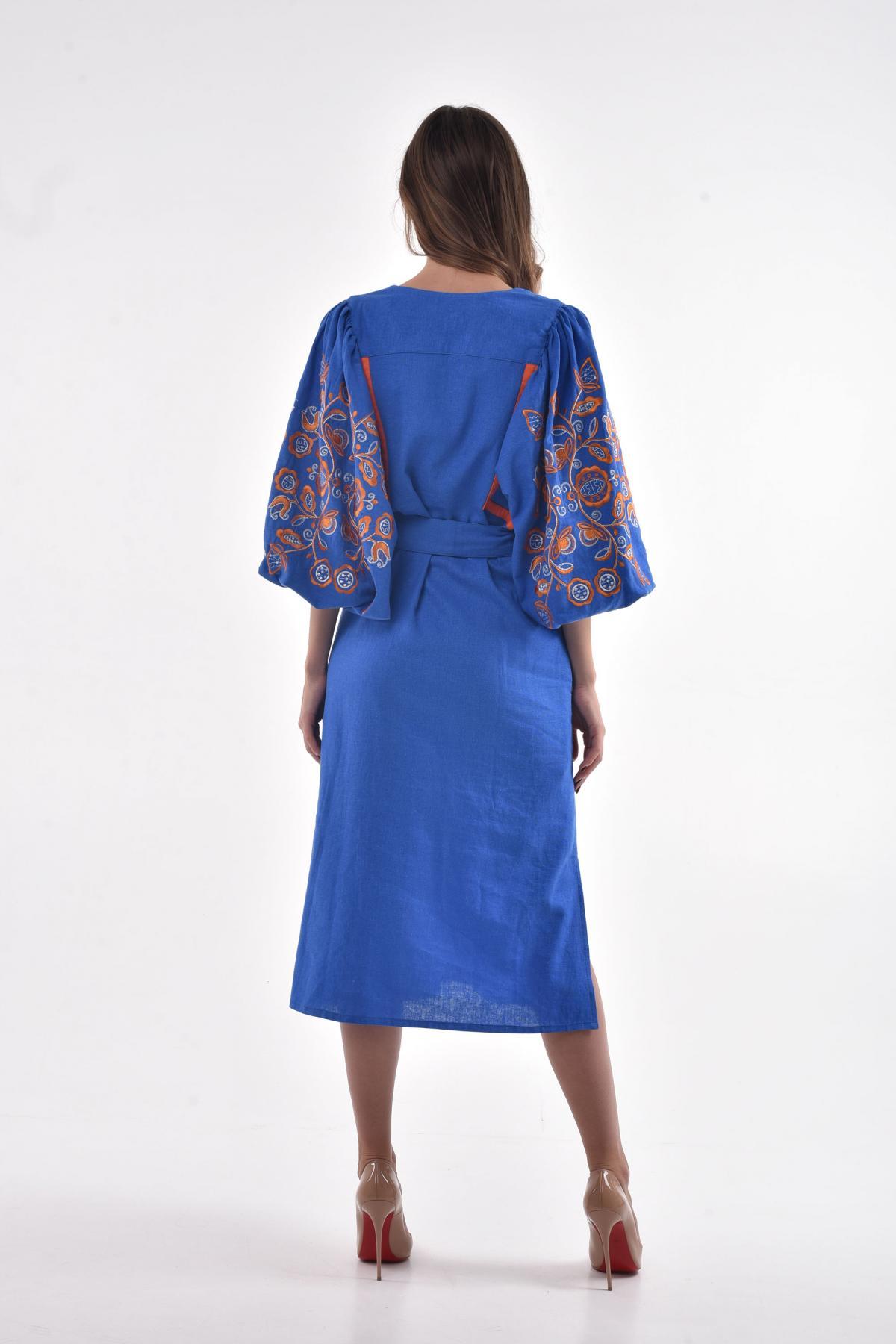 Blue embroidered dress. Photo №4. | Narodnyi dim Ukraine
