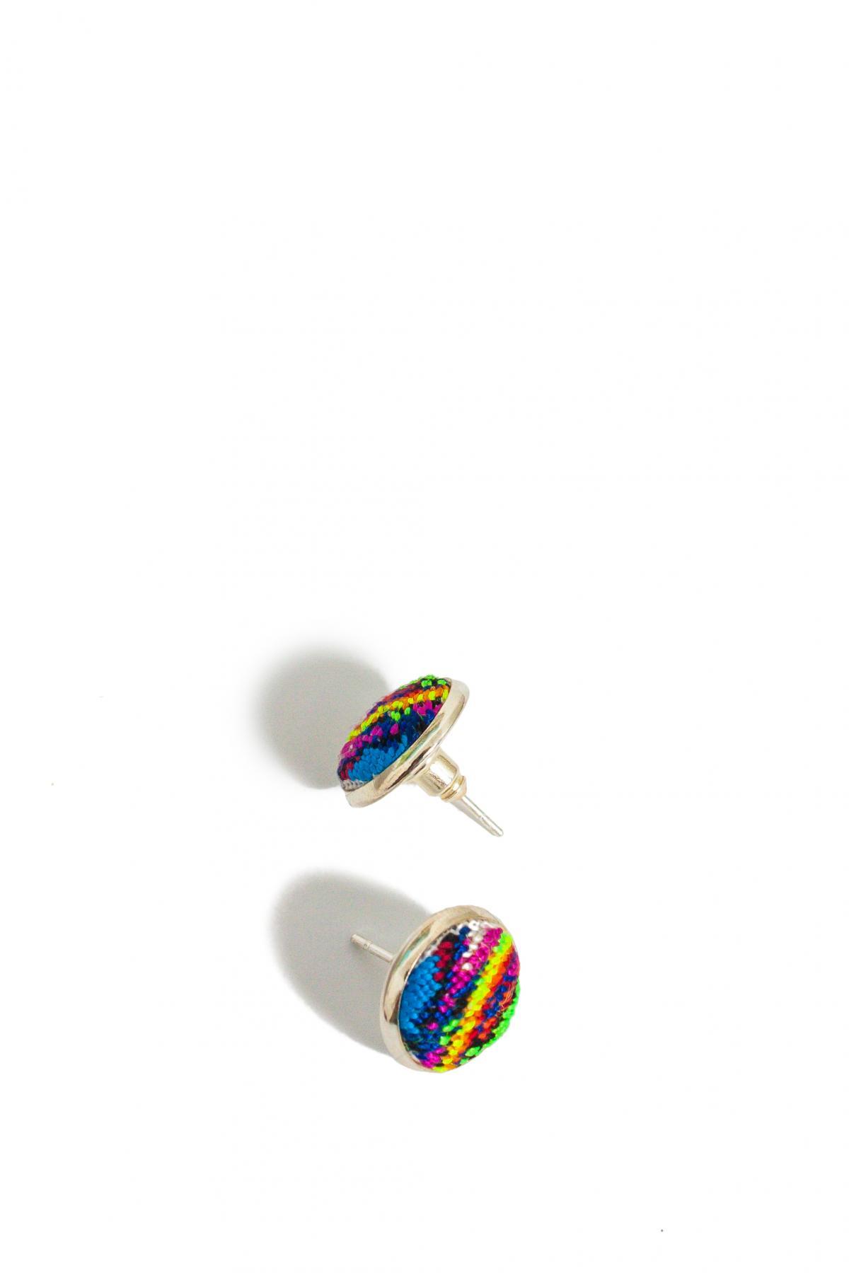 Набор Кольцо и серьги с красочной микровишивкой. Фото №2. | Народный дом Украина