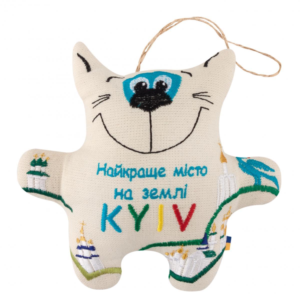 Игрушка Кот с вышивкой