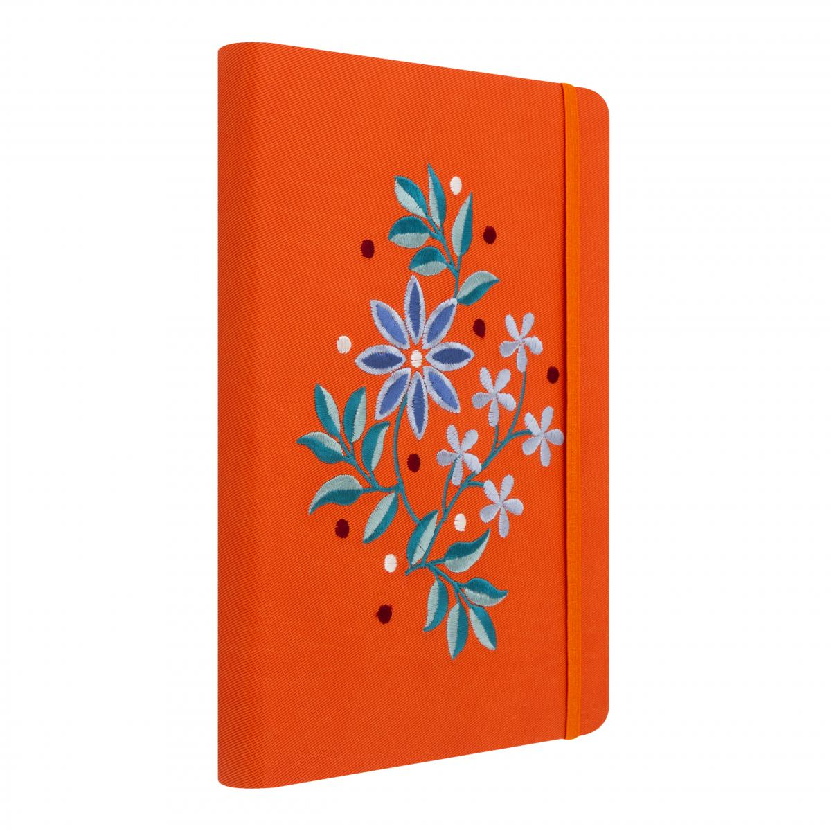 Orange notebook with embroidery. Photo №2. | Narodnyi dim Ukraine