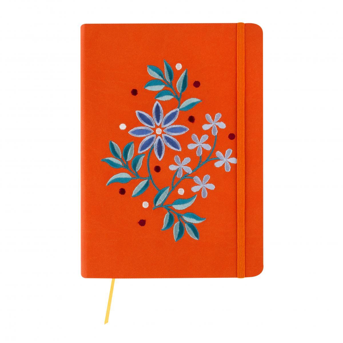 Orange notebook with embroidery. Photo №1. | Narodnyi dim Ukraine