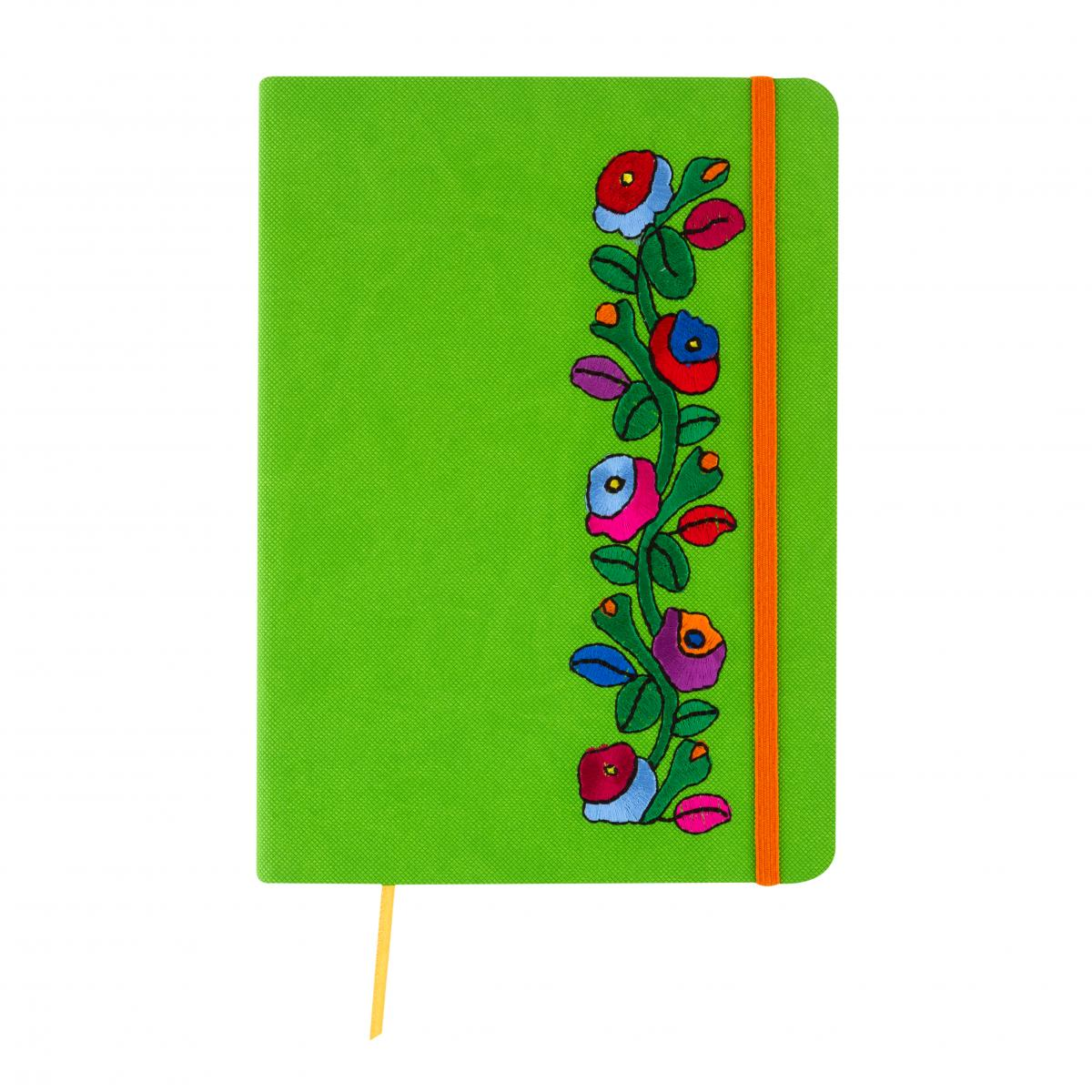 Зеленый блокнот с вышивкой. Фото №3. | Народный дом Украина
