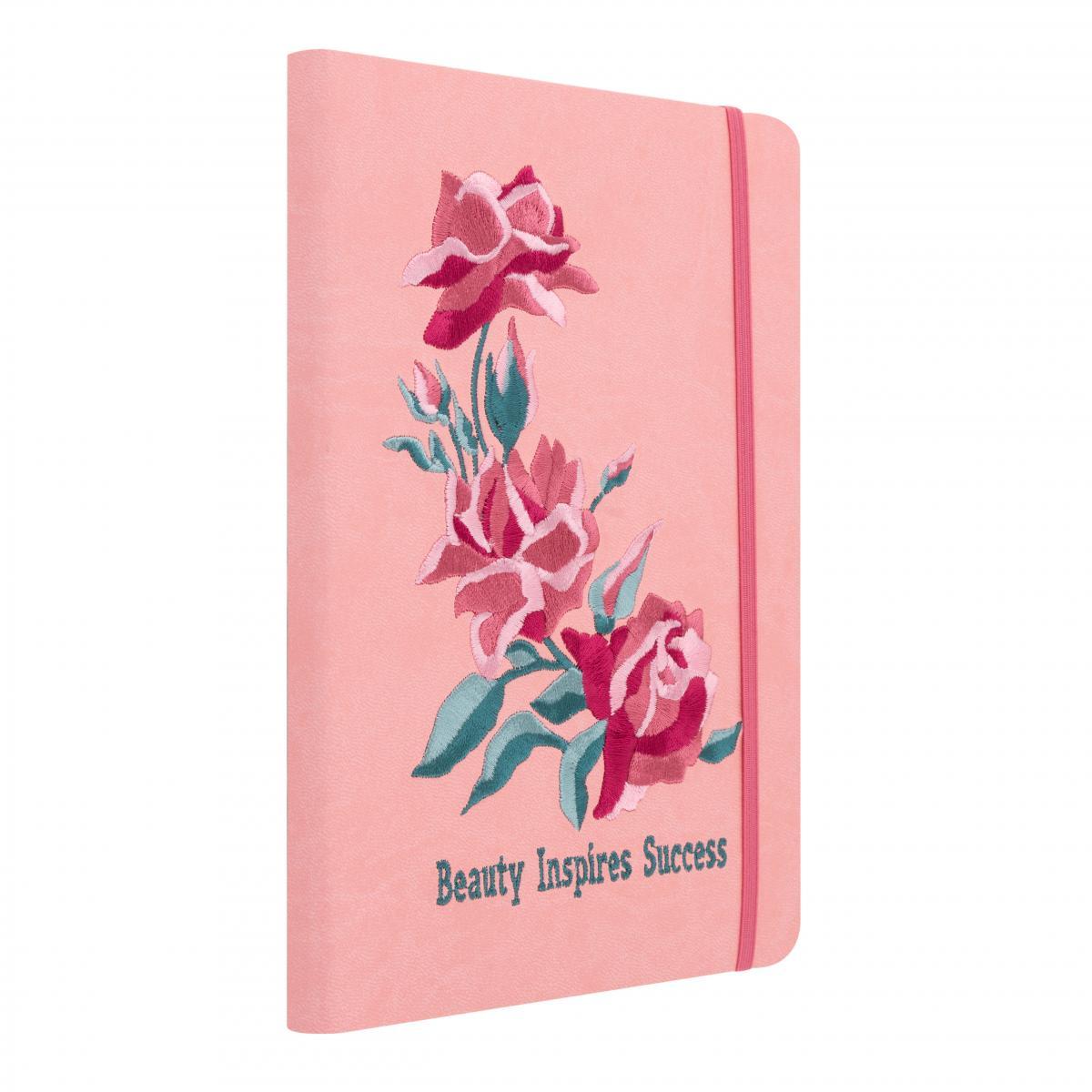 Розовый блокнот с вышивкой. Фото №1. | Народный дом Украина