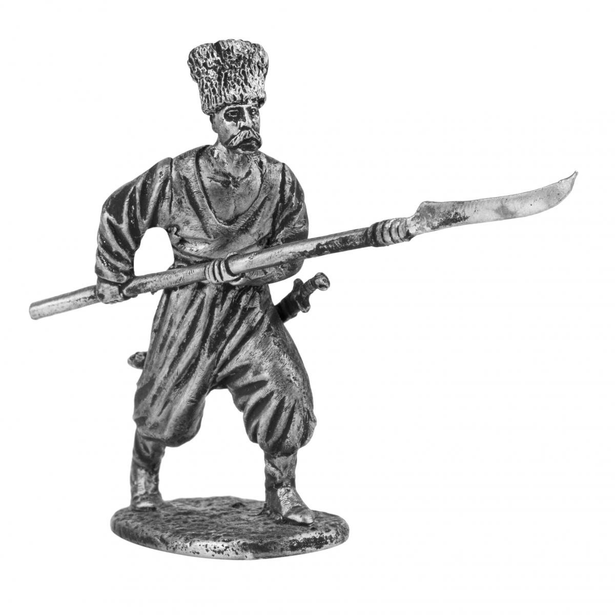 Фигурка казака с копьем