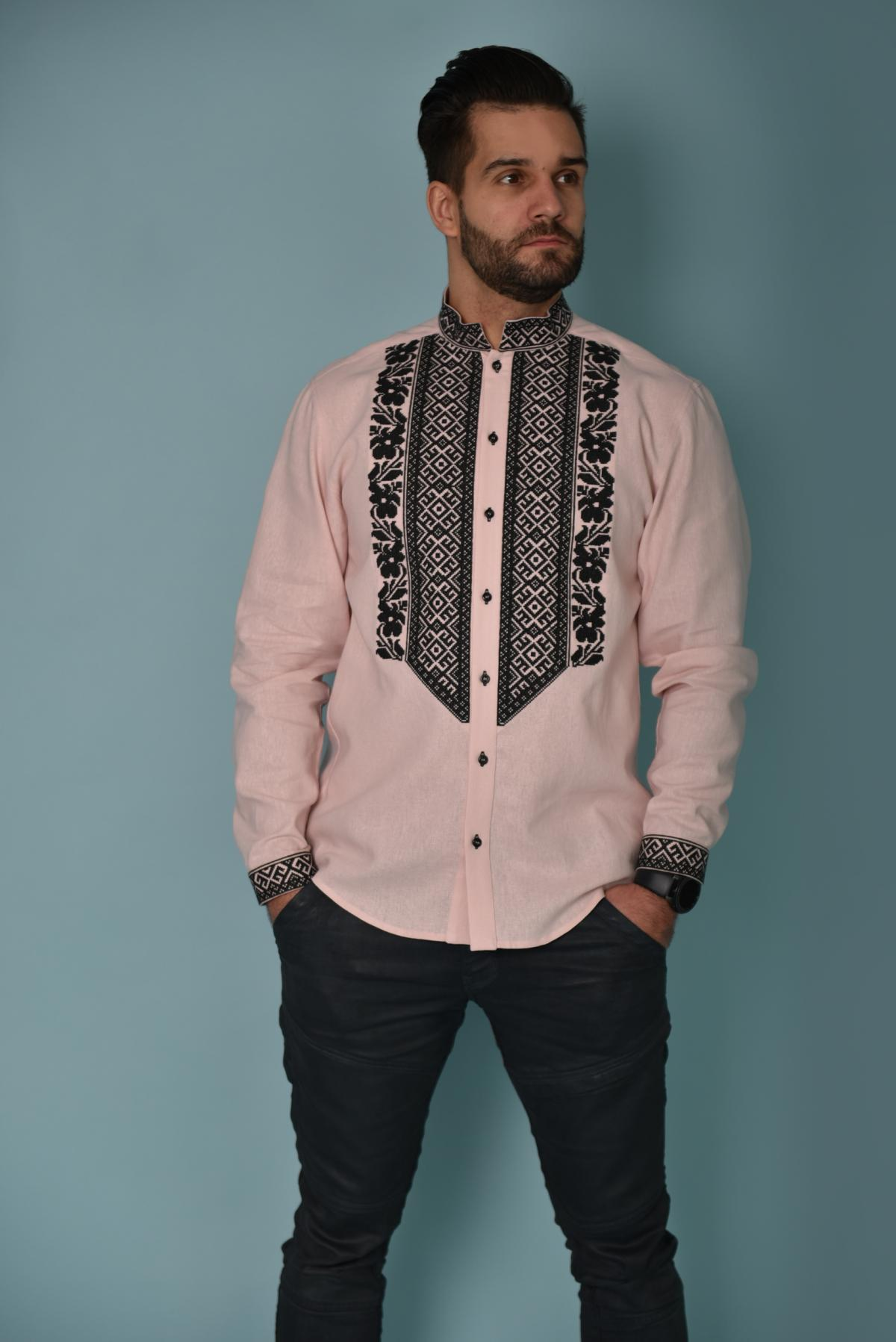 Pink men's embroidery. Photo №1. | Narodnyi dim Ukraine