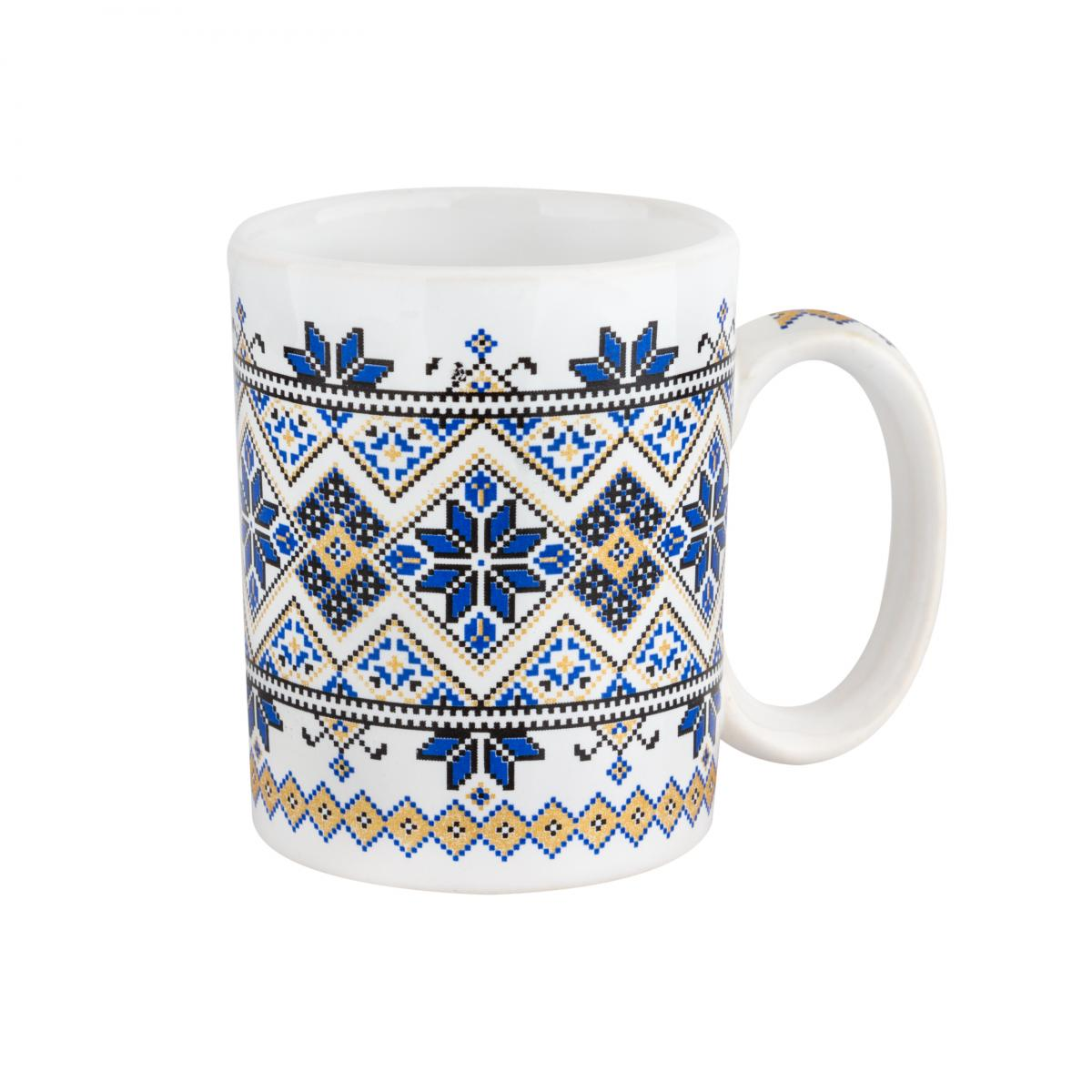 Чашка с желто-синим узором – 150 мл
