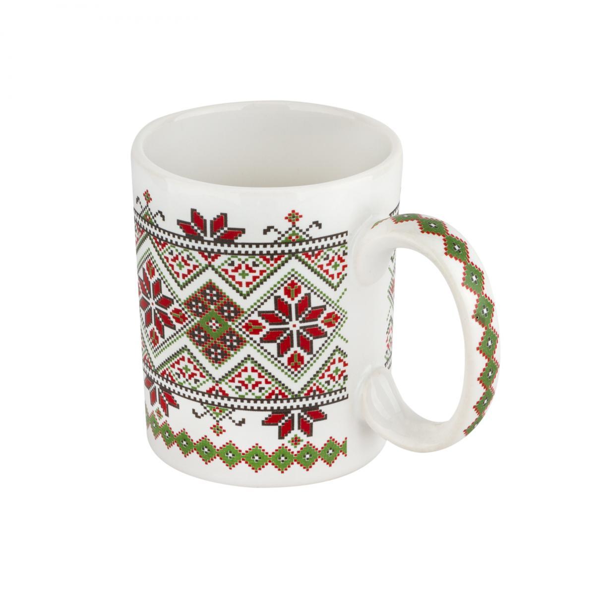 Чашка с красно-зеленым узором – 150 мл. Фото №2. | Народный дом Украина