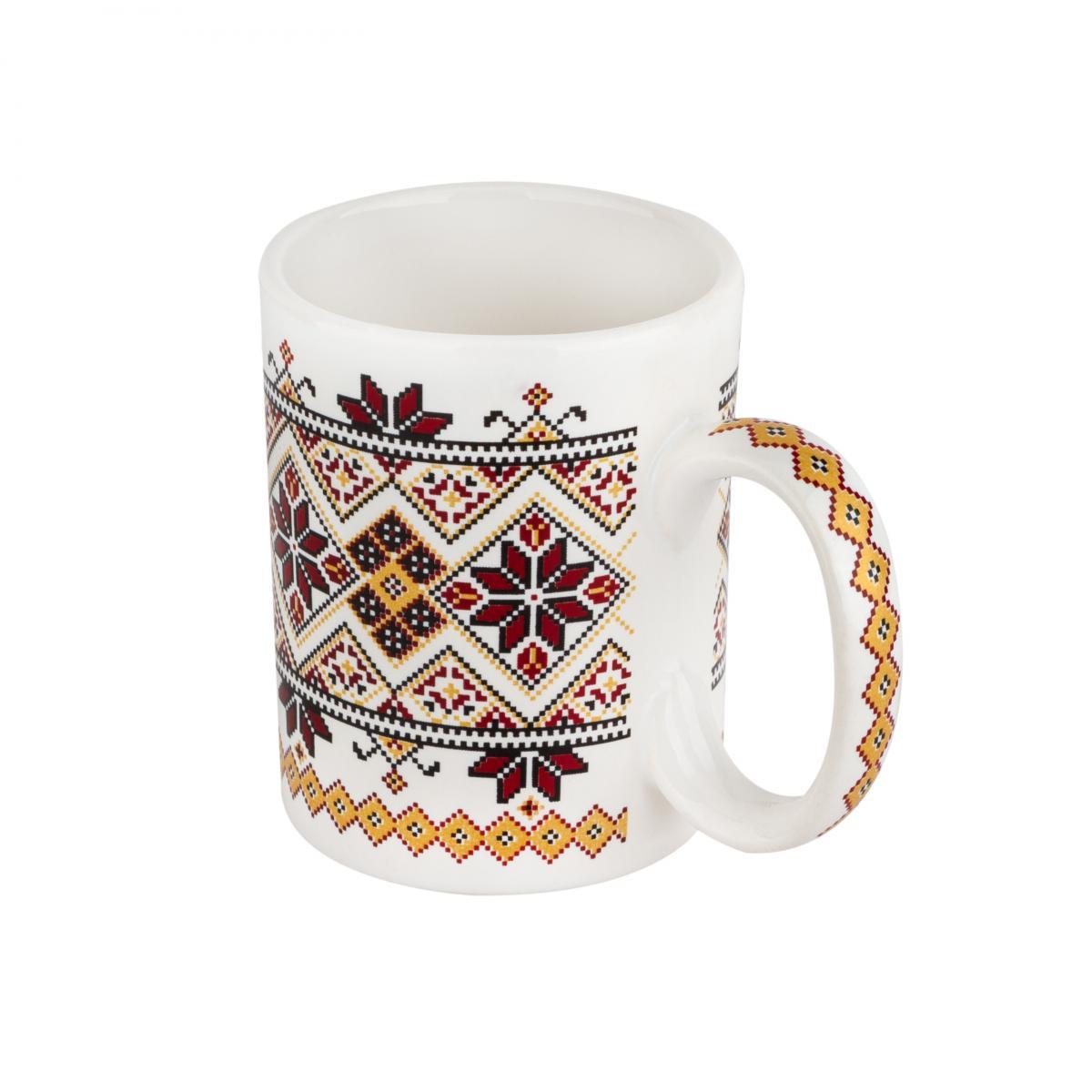 Чашка с красно-желтым узором – 150 мл. Фото №2. | Народный дом Украина