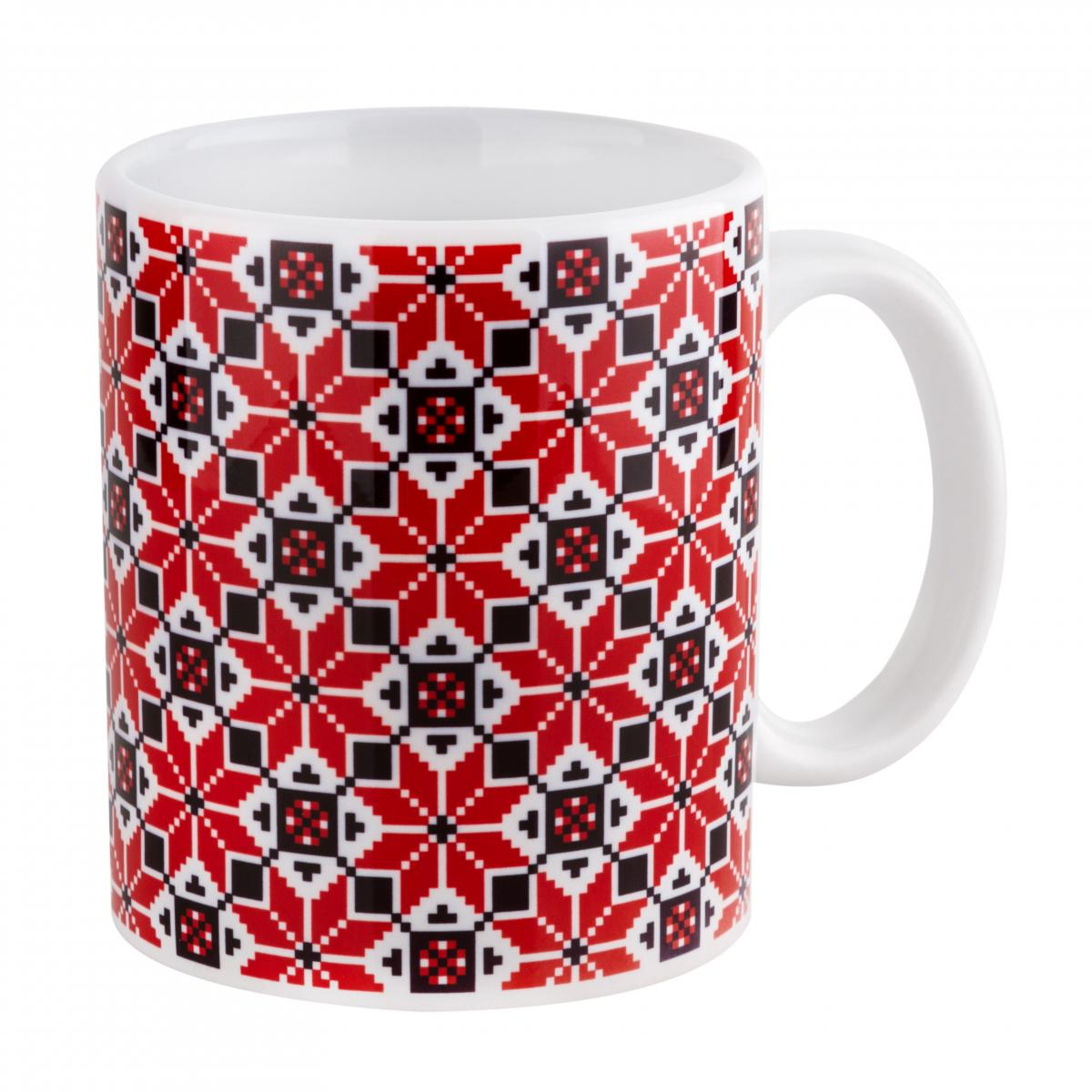 A cup with a red and black pattern. Photo №1. | Narodnyi dim Ukraine