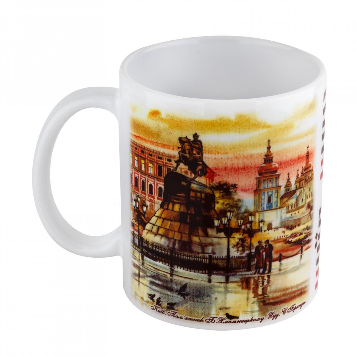 Чашка с Андреевской церковью и памятником Б.Хмельницкого. Фото №2. | Народный дом Украина