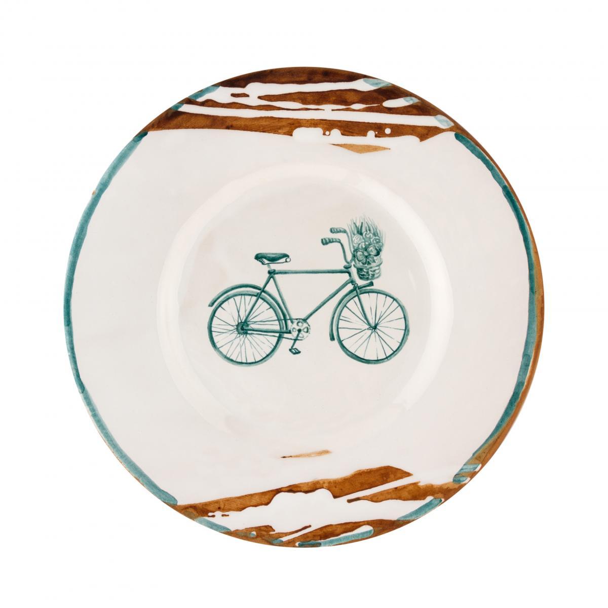 Тарелка с велосипедом. Фото №1. | Народный дом Украина