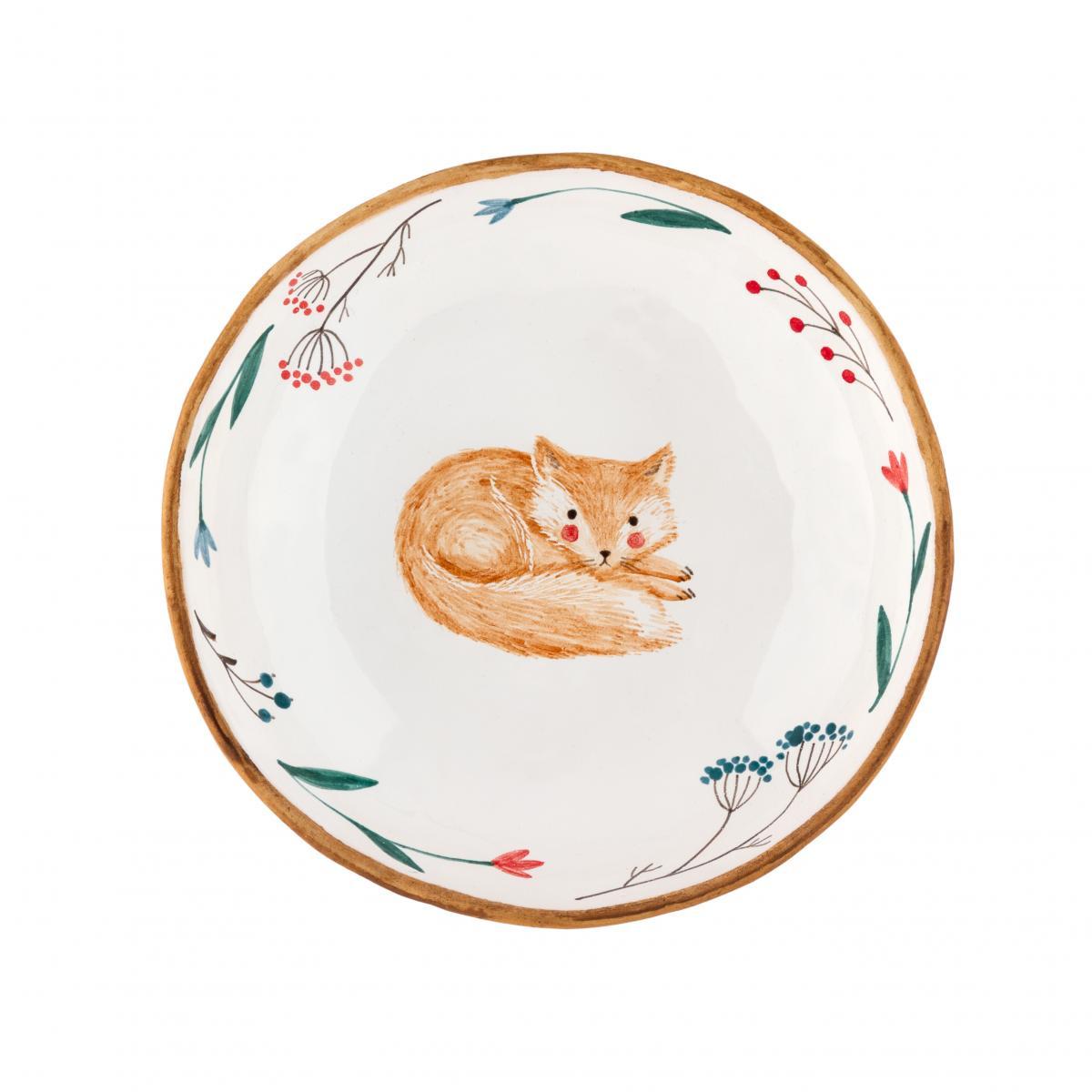 Тарелка с лисом