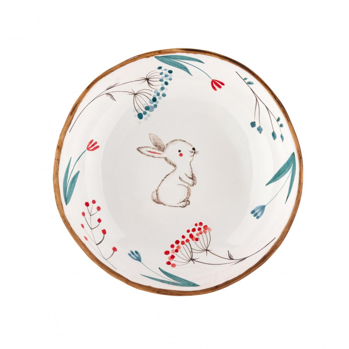 A plate with a hare and mountain ash. Photo №1. | Narodnyi dim Ukraine