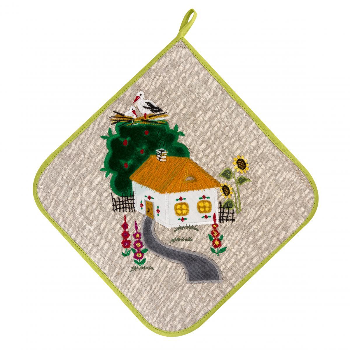 Прихватка Зелена хата. Фото №1. | Народний дім Україна