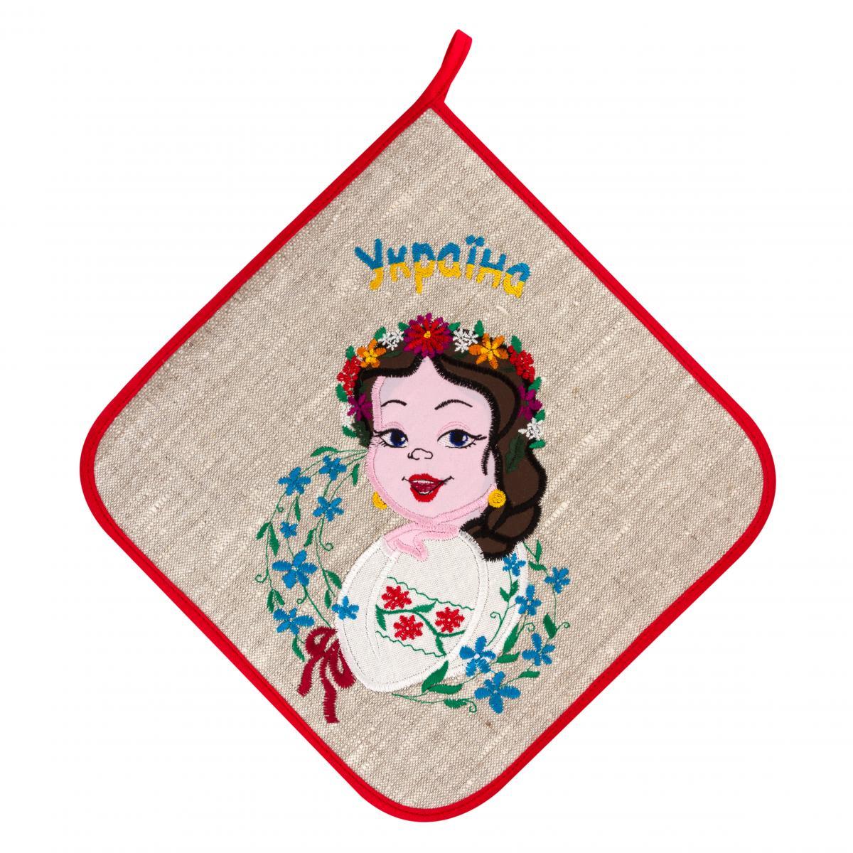 "Cloth holder for hot dishes ""Ukrainian girl"""