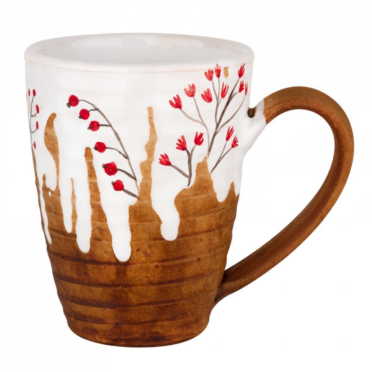 Cup with red flowers. Photo №1. | Narodnyi dim Ukraine