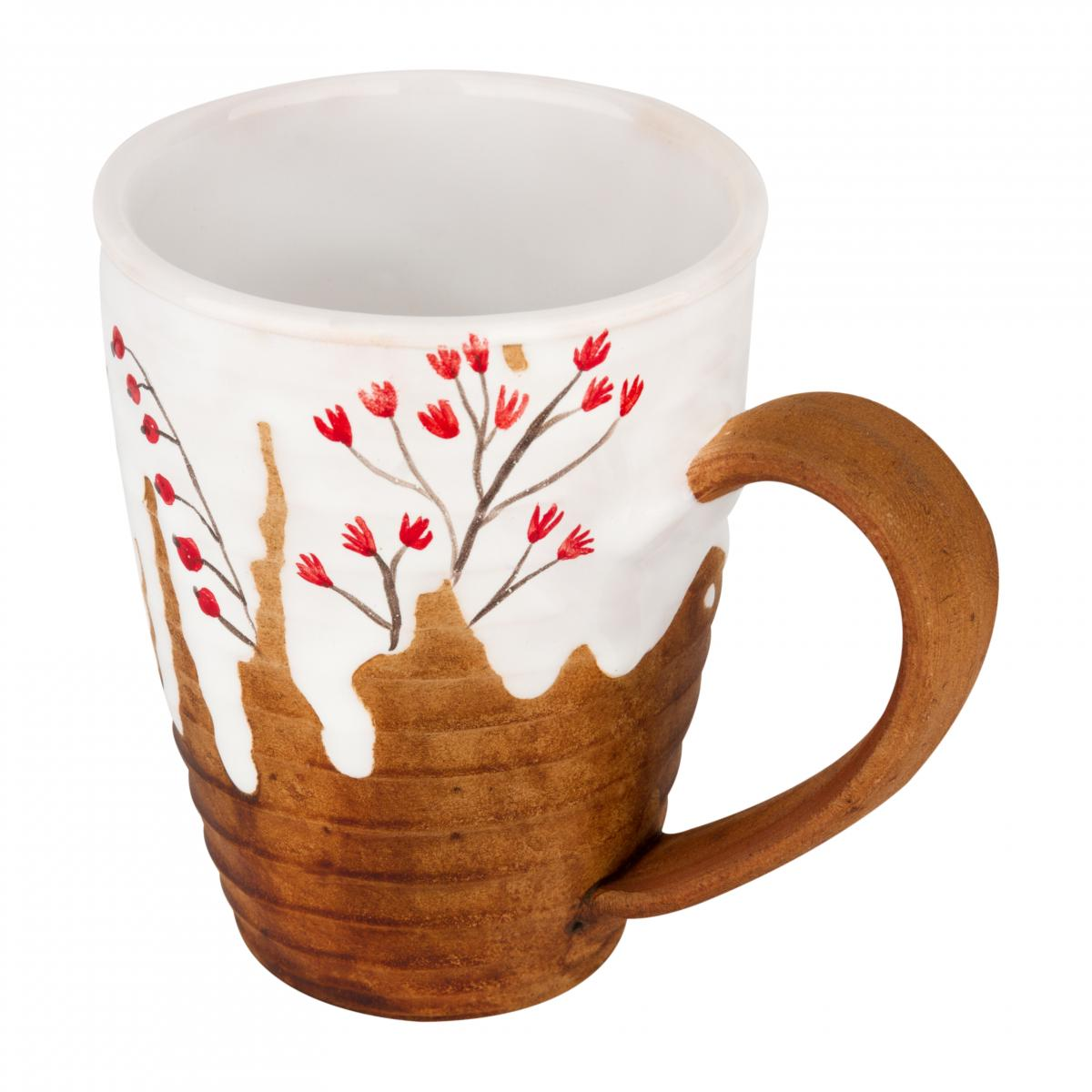 Cup with red flowers. Photo №2. | Narodnyi dim Ukraine