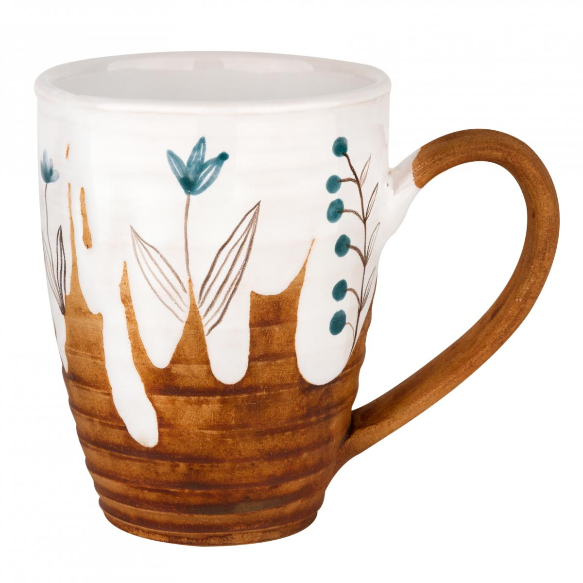 Cup with blue flowers. Photo №1. | Narodnyi dim Ukraine