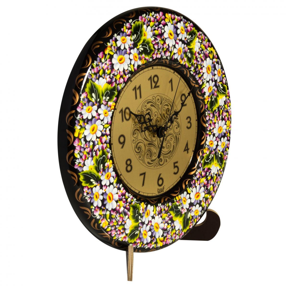 Часы с ручной росписью Ромашки. Фото №1. | Народный дом Украина