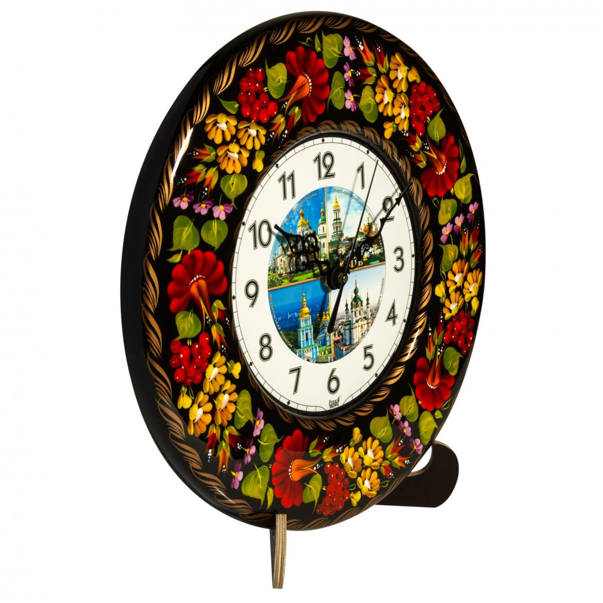 Часы с ручной росписью Киев достопримечательности коллаж №2. Фото №1. | Народный дом Украина