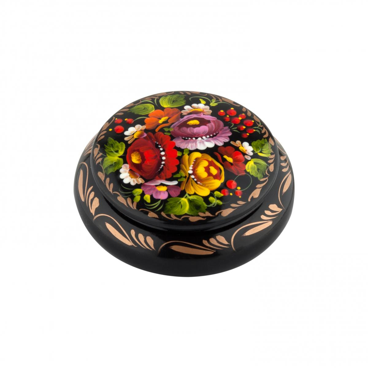 Шкатулка с цветочной росписью