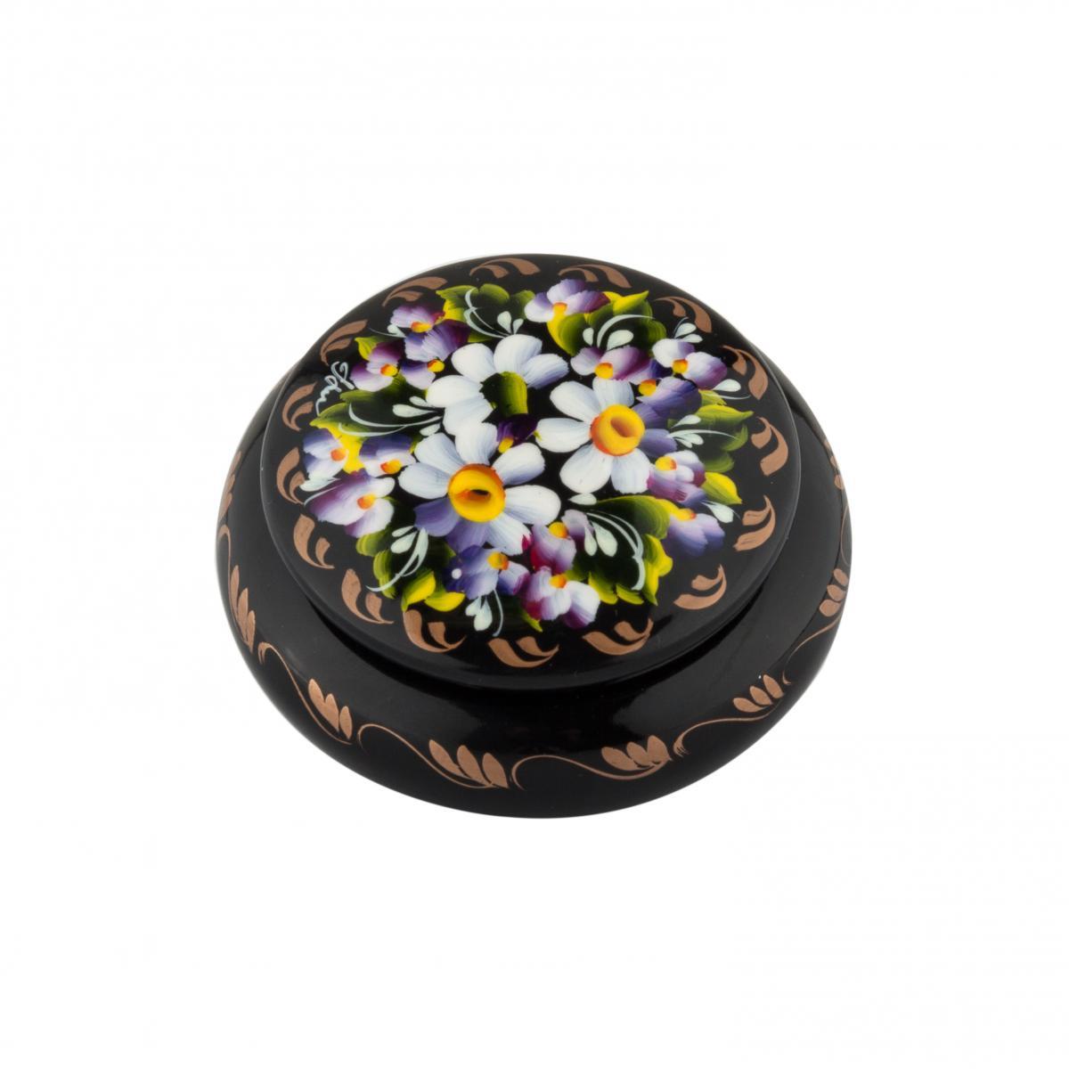 Шкатулка с цветочной росписью №3