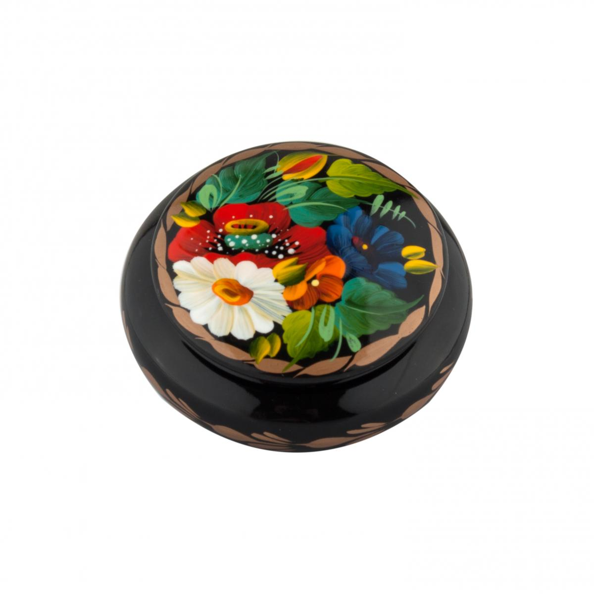 Шкатулка с цветочной росписью №4
