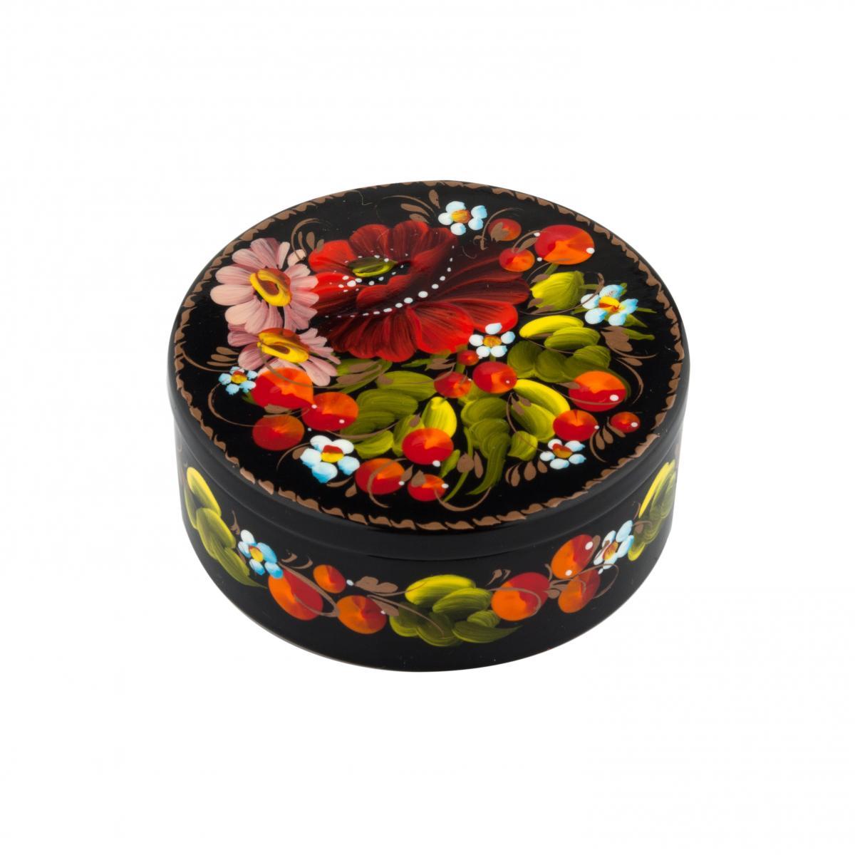 Шкатулка с цветочной росписью №7. Фото №1. | Народный дом Украина