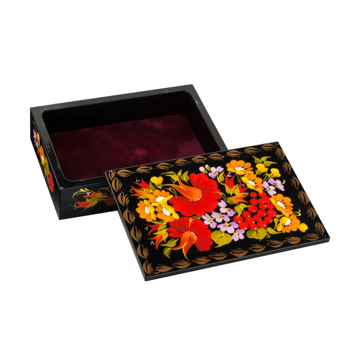 Casket with flower painting №9. Photo №1. | Narodnyi dim Ukraine