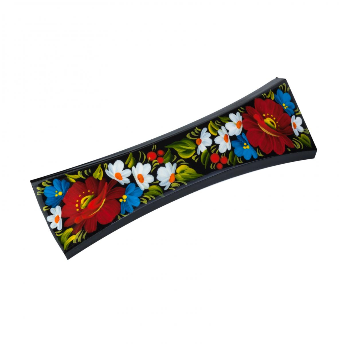 Hair clip with Kyivsky painting (in assortment). Photo №4. | Narodnyi dim Ukraine