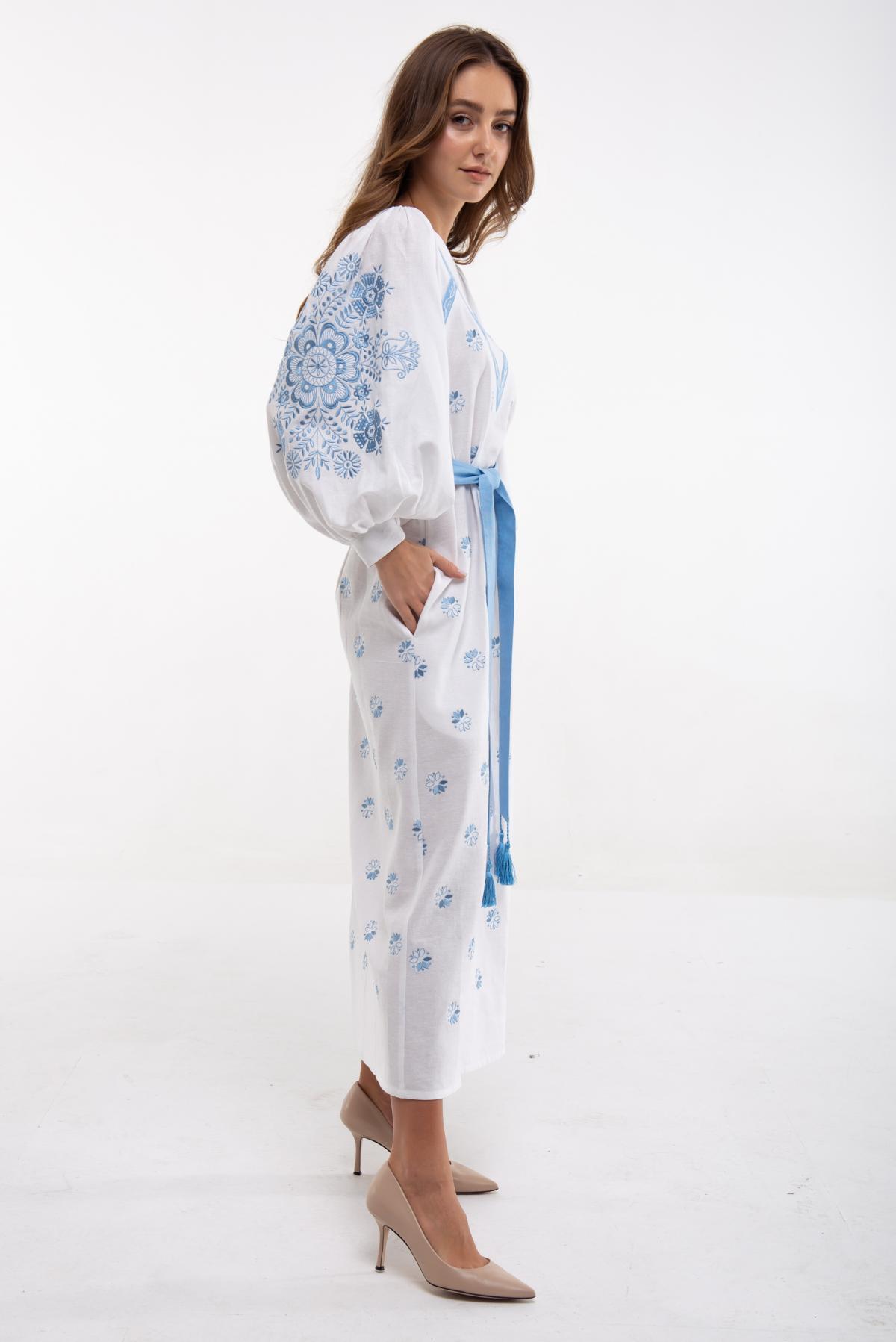 Сукня вишита Росинка біла. Фото №2. | Народний дім Україна
