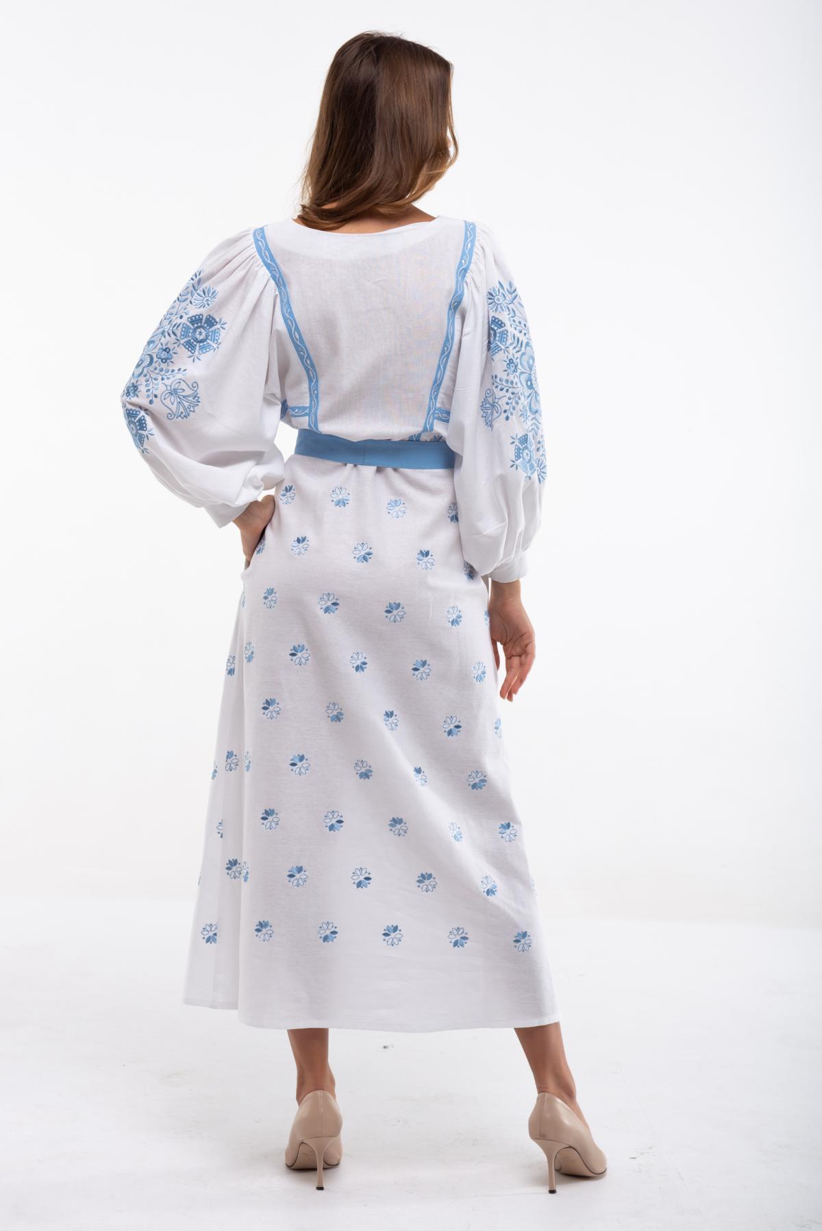 Сукня вишита Росинка біла. Фото №3. | Народний дім Україна